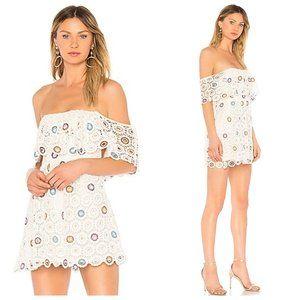 Revolve Lovers + Friends White Crochet Vacay Dress